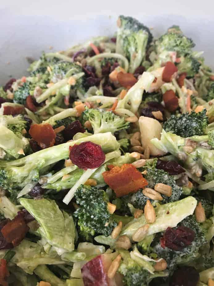 broccoli salad close up