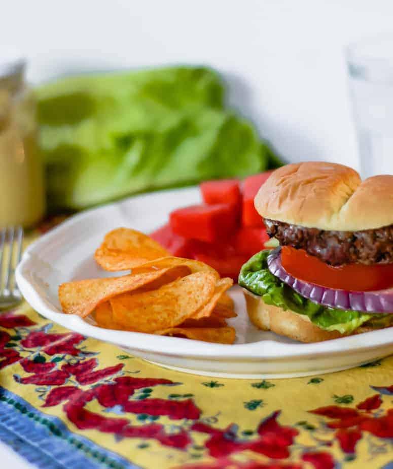 hamburger made with best grilled hamburger marinade