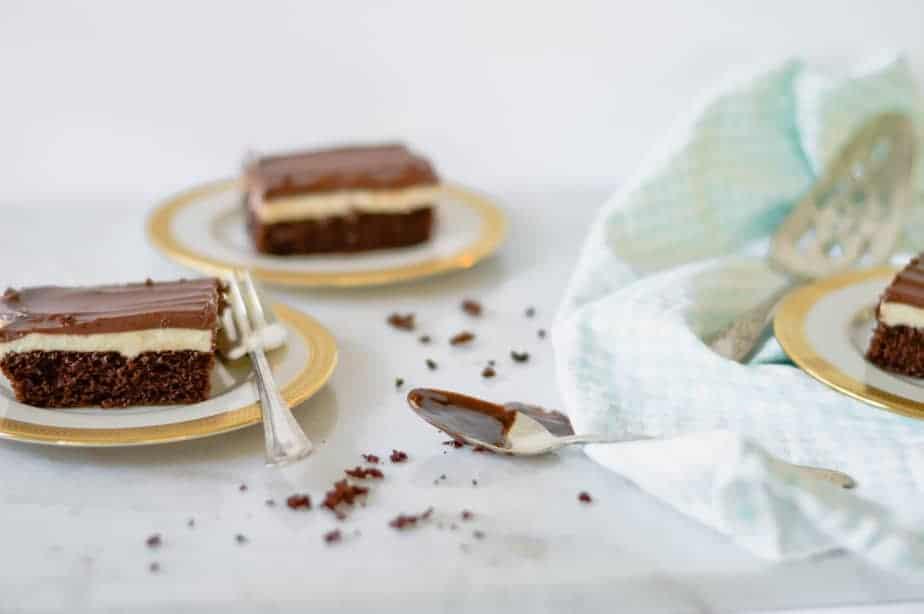 slices of chocolate fudge Ho Ho cake