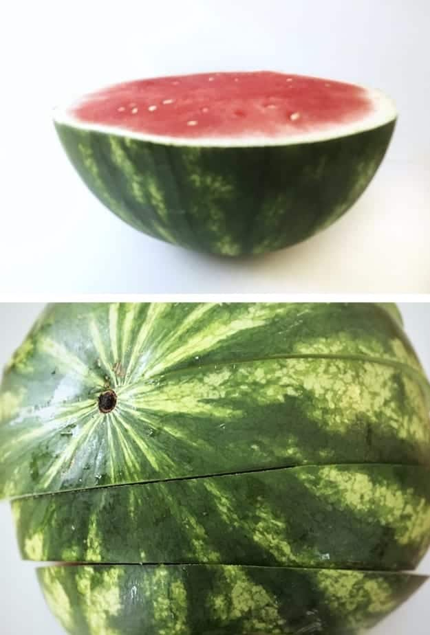 how to cut a watermelon process pic.