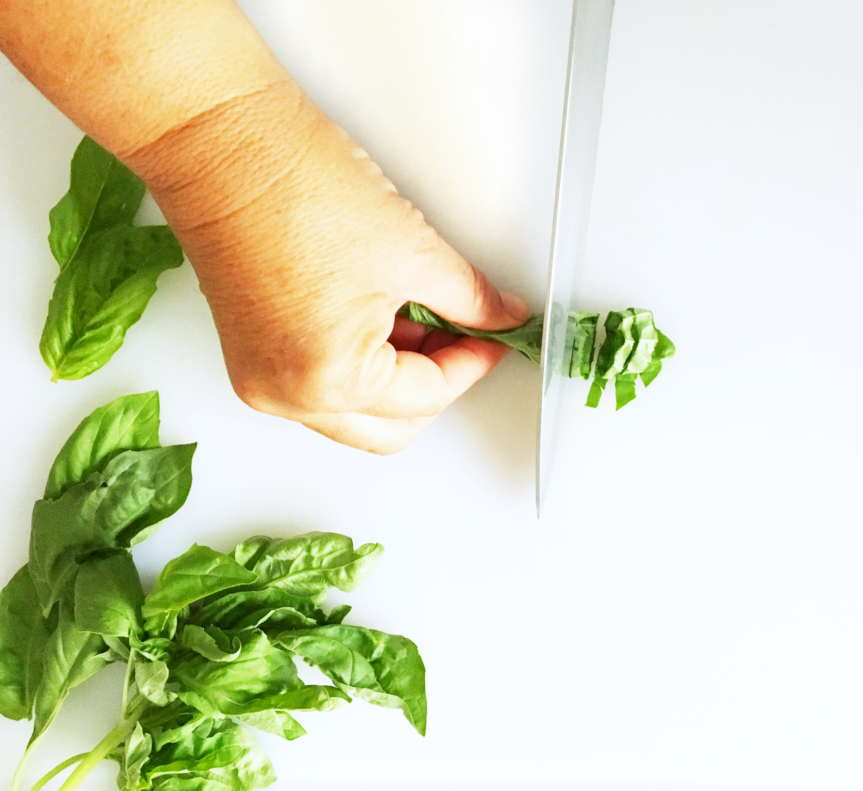 How to Cut Basil Ribbons (