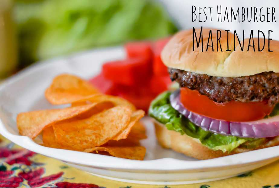 grilled hamburgers made with best grilled hamburger marinade