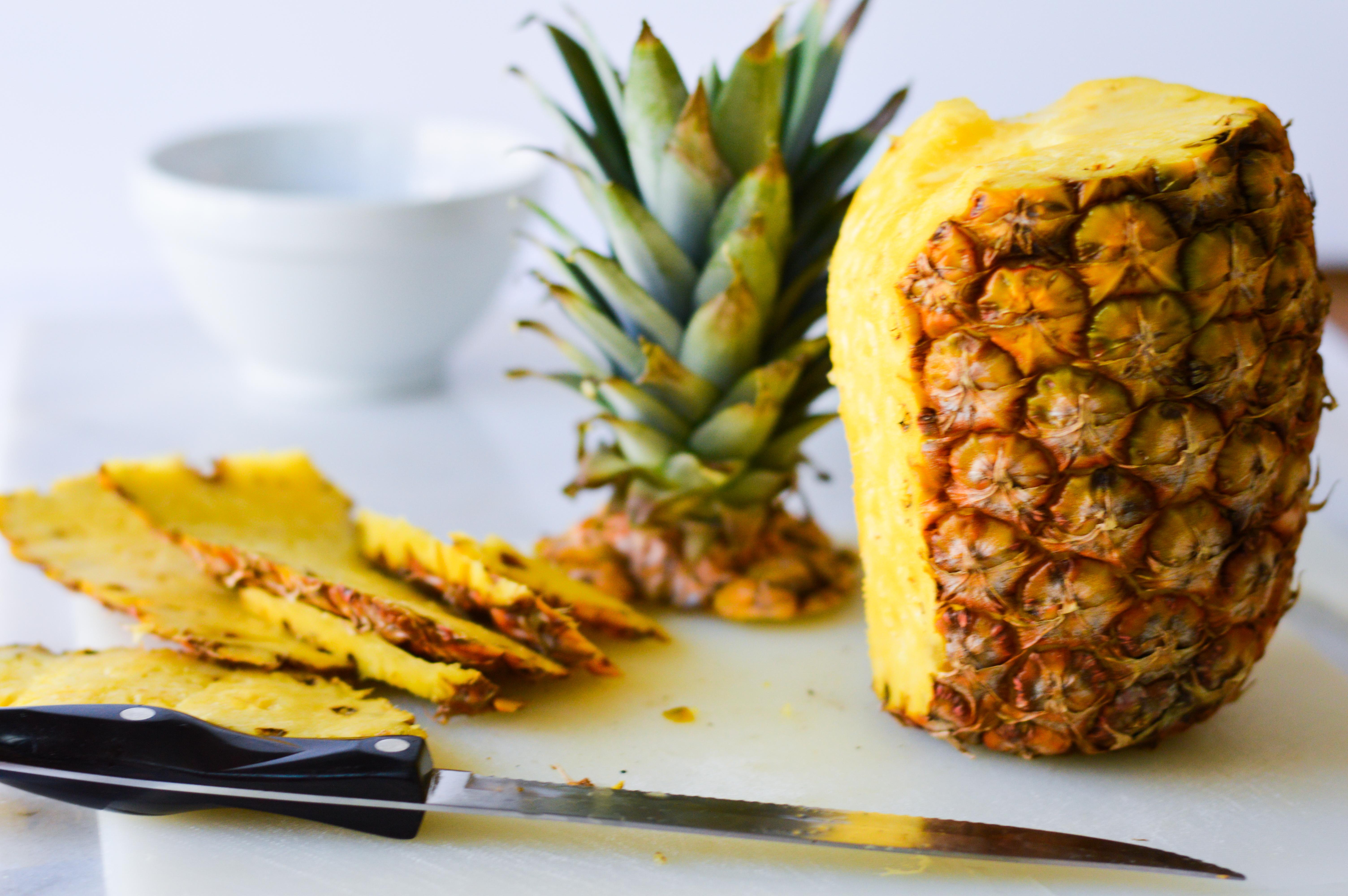Fresh Pineapple lemon basil salad