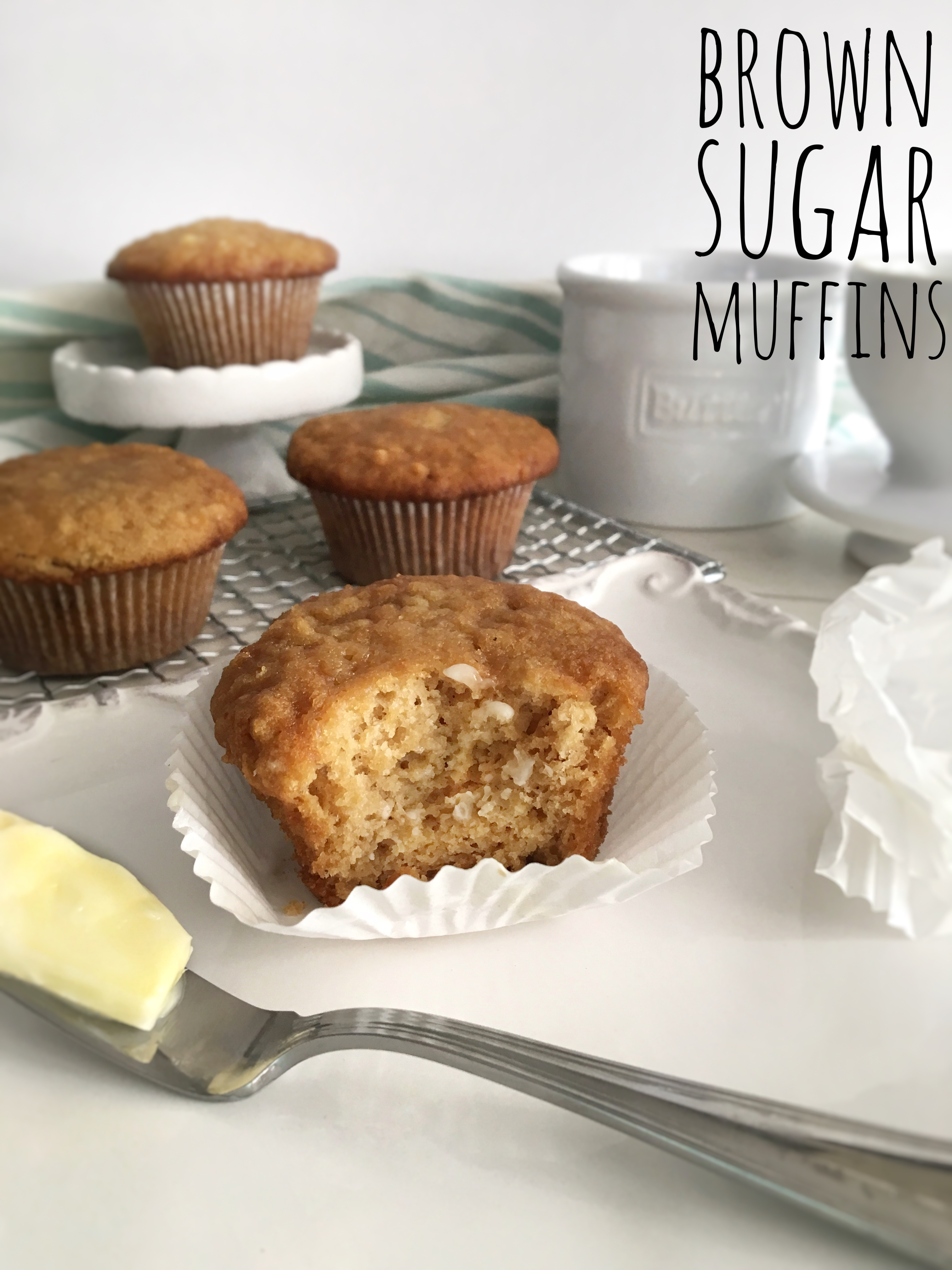 brown sugar muffins with fresh butter
