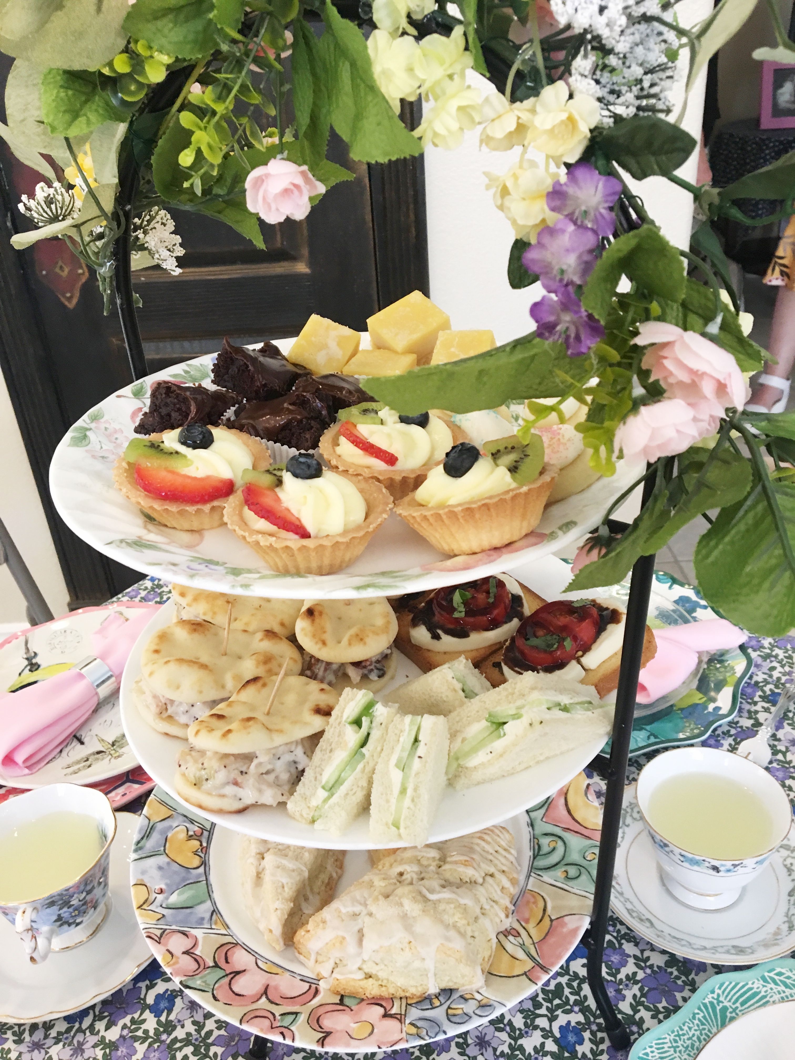 cucumber sandwiches and other savory and sweet tea time treats