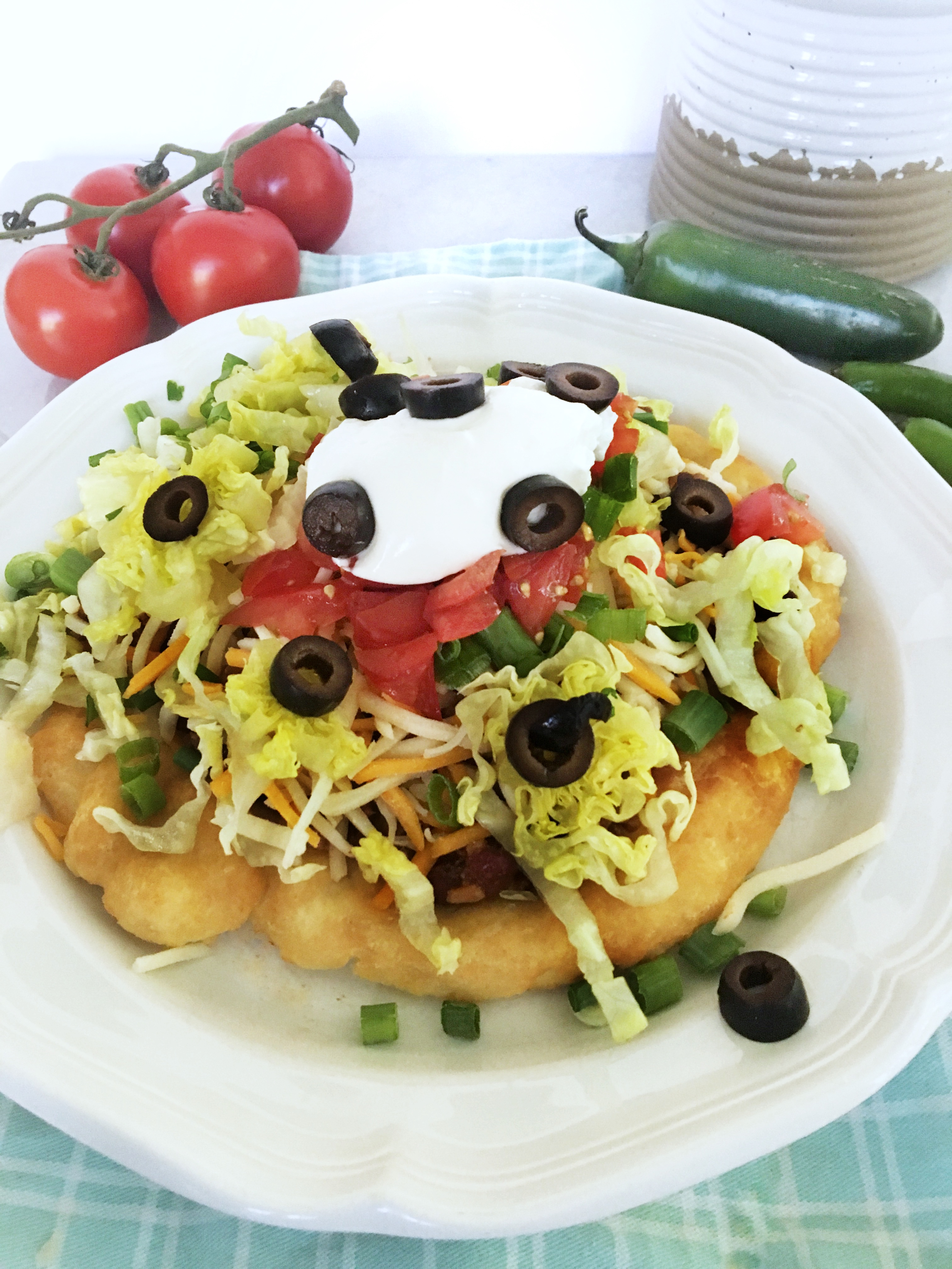 Navajo Tacos with toppings
