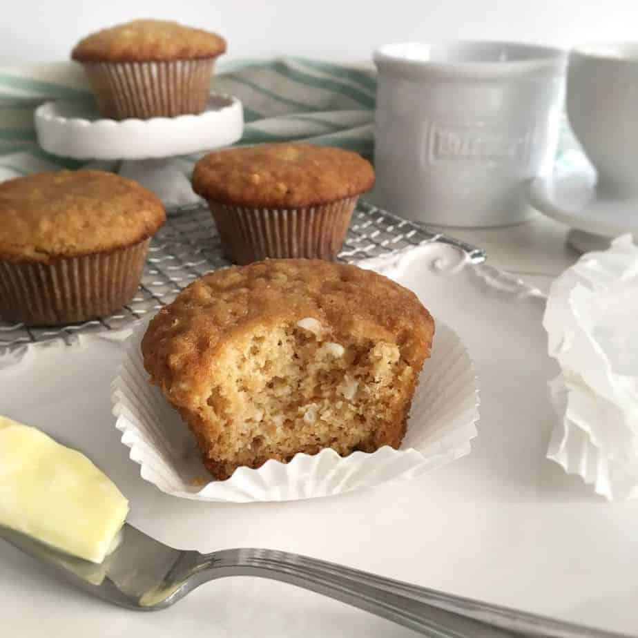 moist brown sugar muffins with fresh butter