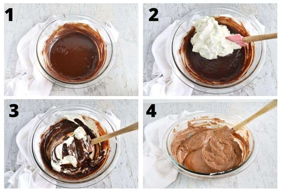 picture steps for chocolate silk royal pie filling