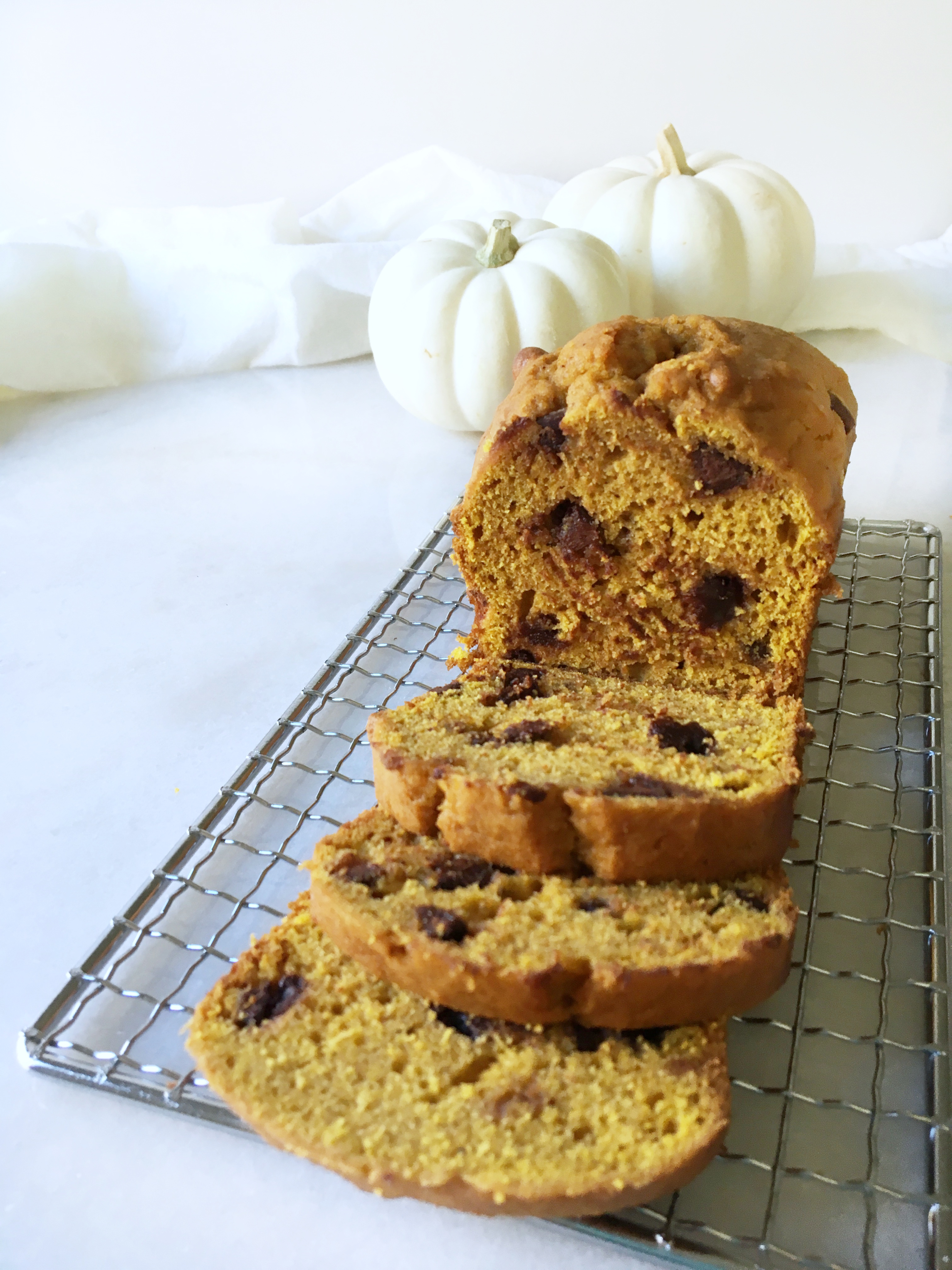 pumpkin chocolate chip bread, pumpkin recipes