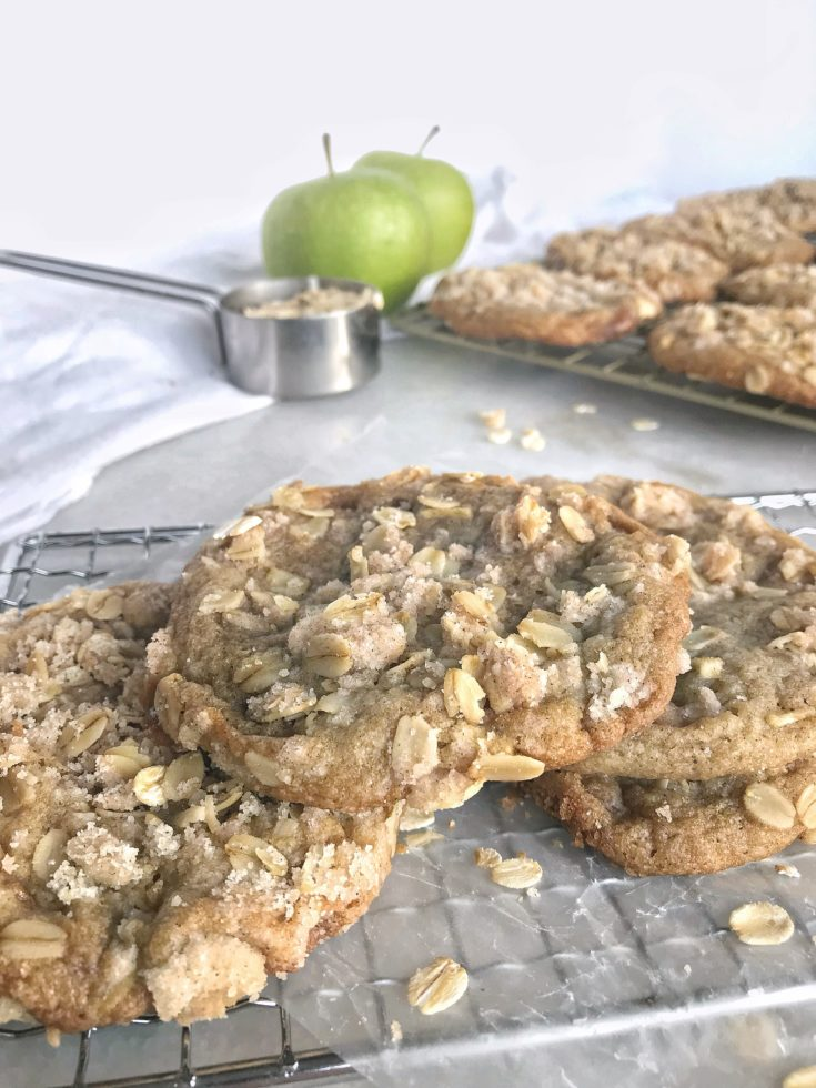 Caramel Apple Crumble Cookies