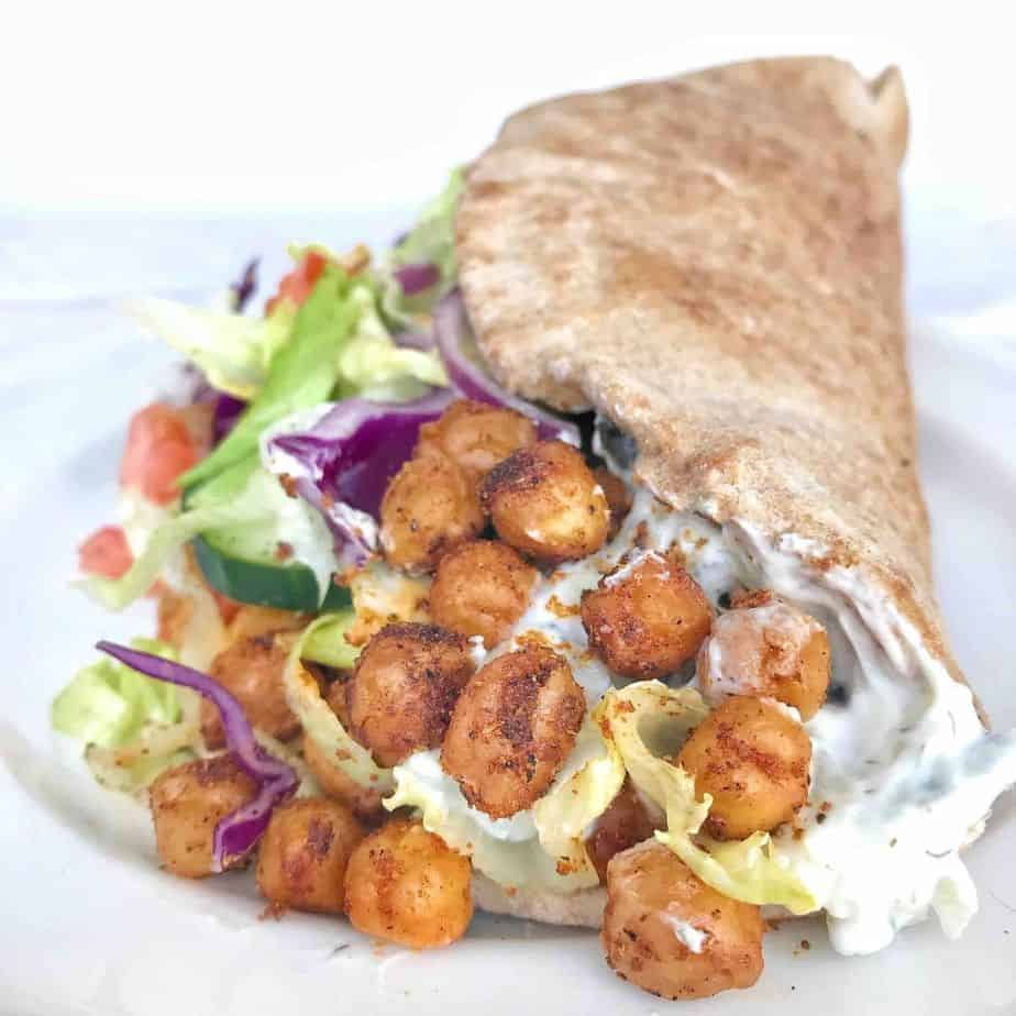 chickpea gyro on its side