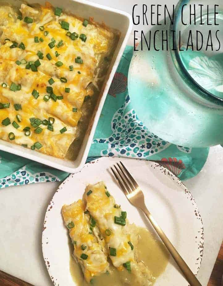 Try our cheesy Green Chile Chicken enchiladas with a flavorful green sauce