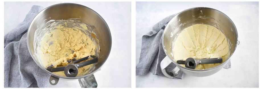 creamed shortbread dough