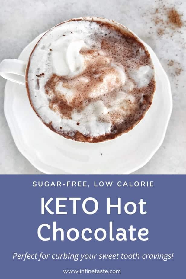 Skinny hot chocolate Pin for pinterest