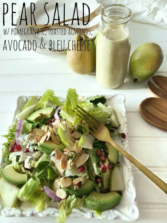Try our Pear, Pomegranate, bleu cheese salad recipe