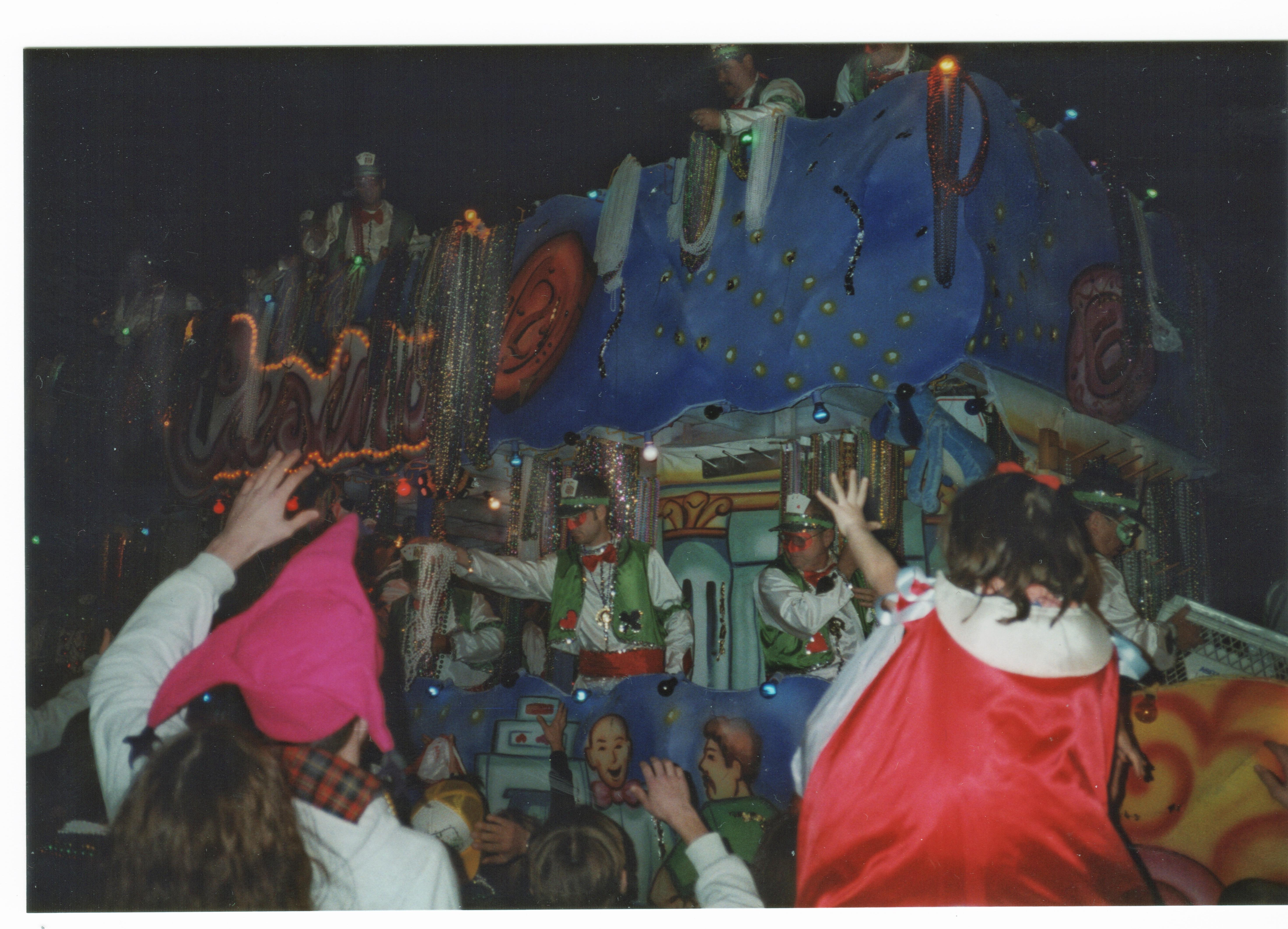 a mardi gras parade float