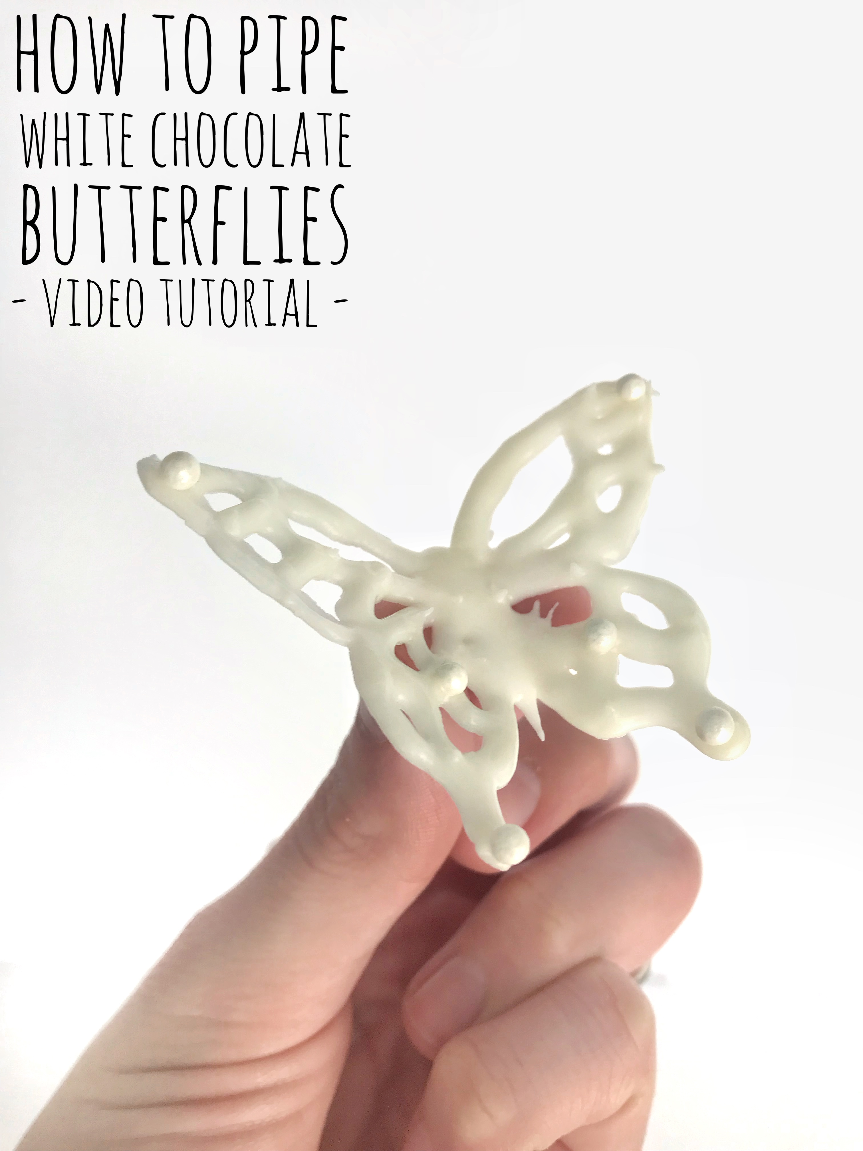 How To Pipe White Chocolate Butterflies Video Tutorial