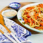 Garbage Pasta: Roasted Carrot & Tomato Fettuccine