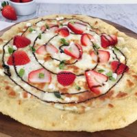 Strawberry balsamic pizza