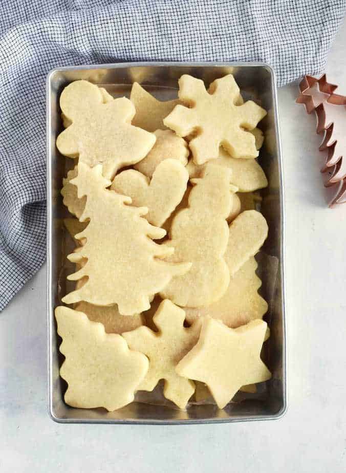 unfrosted cut out sugar cookies