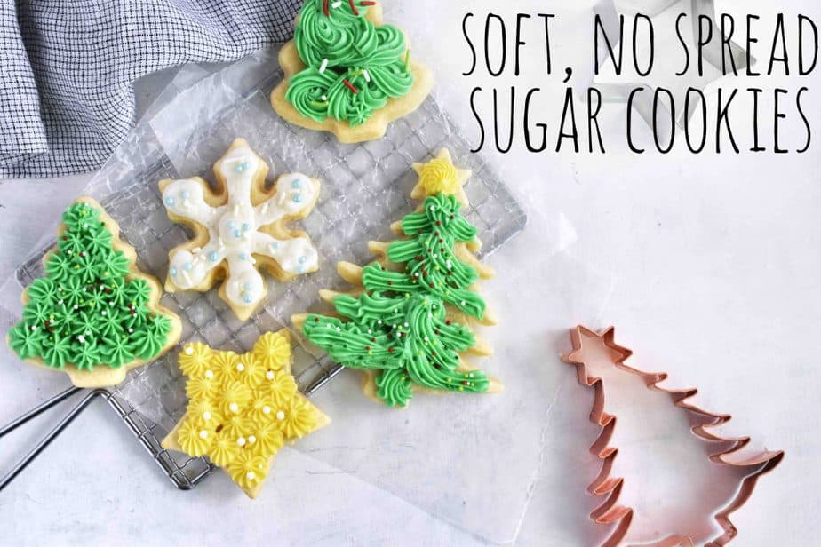 cut out sugar cookies with title