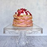 Raspberry Cream Crepe Cake