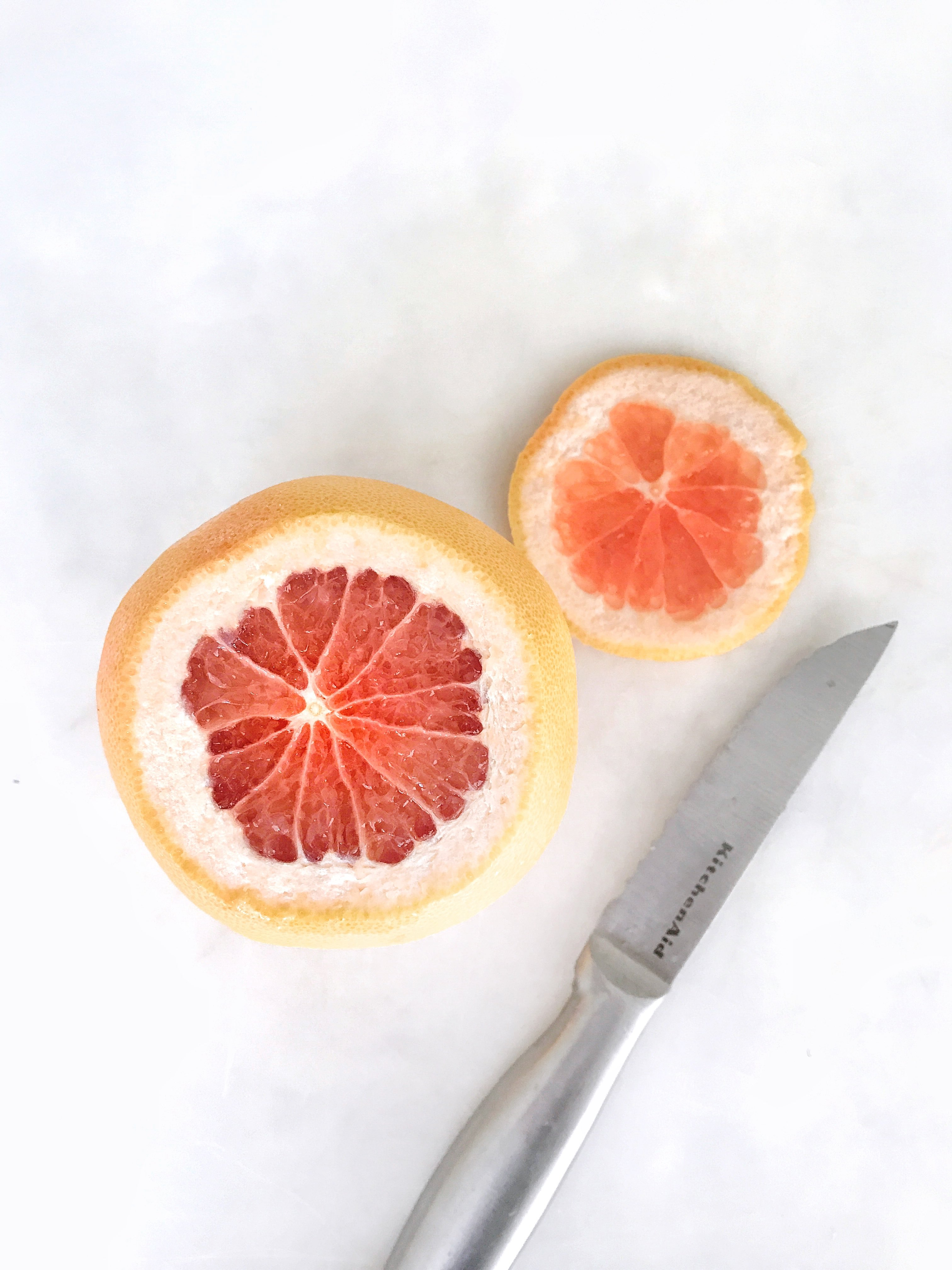 top of grapefruit sliced off