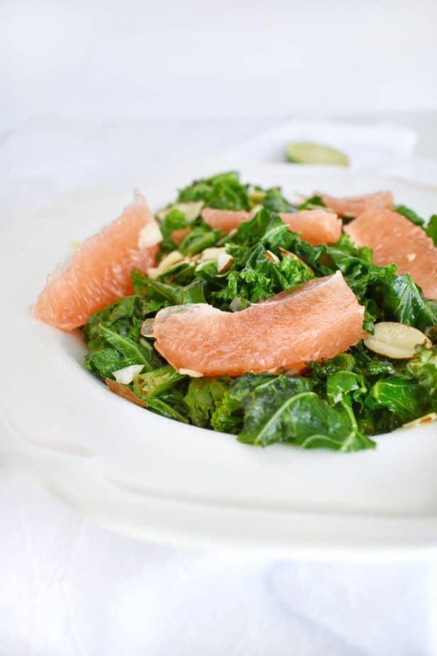 Grapefruit Mint Kale Salad
