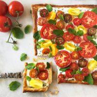 Herb Cheese Tomato Tart with 1 slice