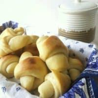 basket of homemade dinner rolls