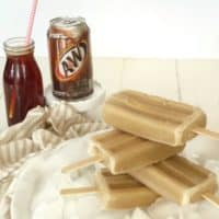 rootbeer popsicles and can of rootbeer
