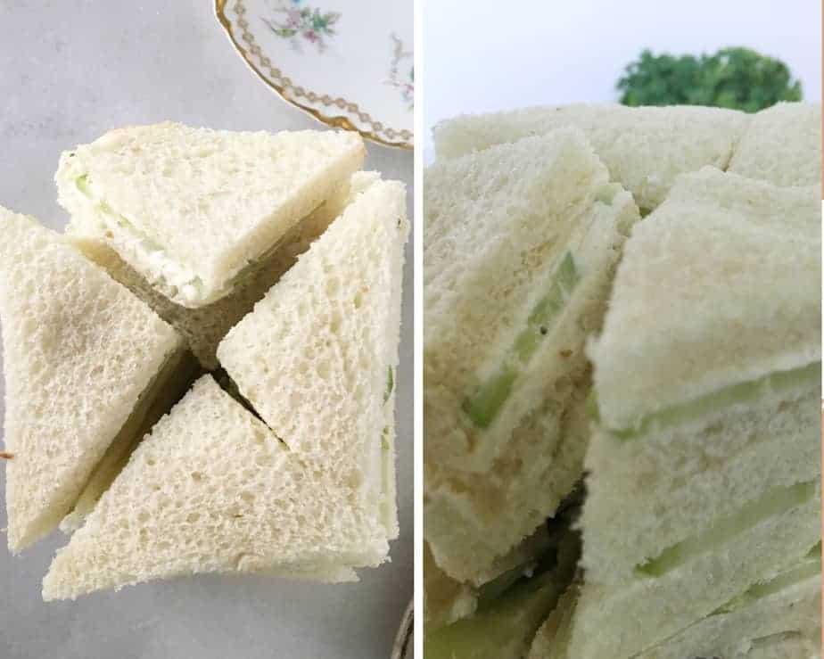 cutting technique for cucumber tea sandwiches