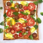 Herbed Cheese and Heirloom Tomato Tart