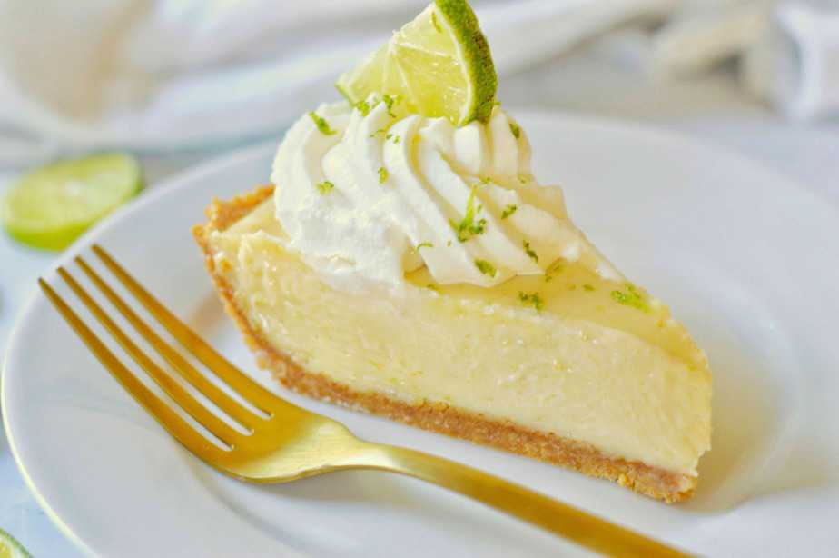 slice of key lime pie alone