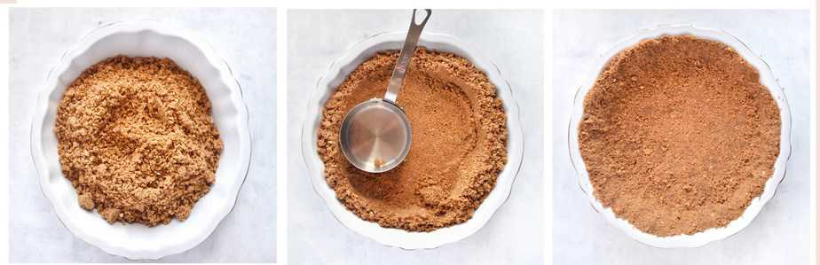 how to make the gingersnap crust