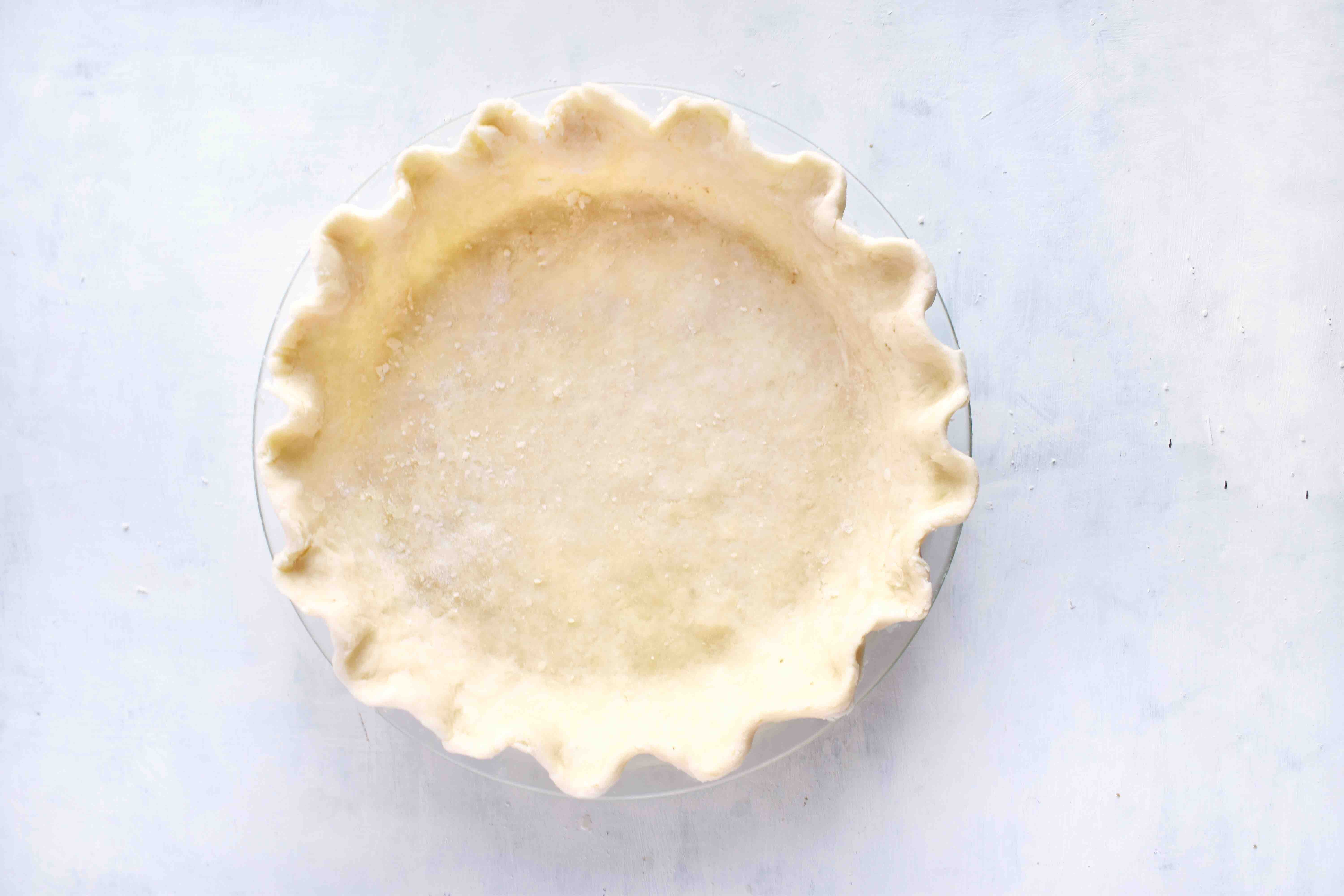 pie crust with fluted edge