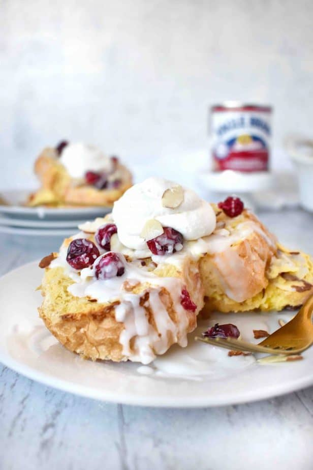 Cranberry Almond Baked French Toast