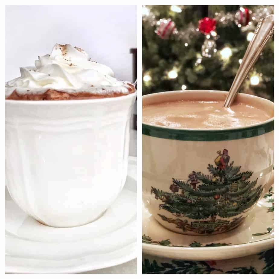 skinny hot chocolate and French Hot chocolate