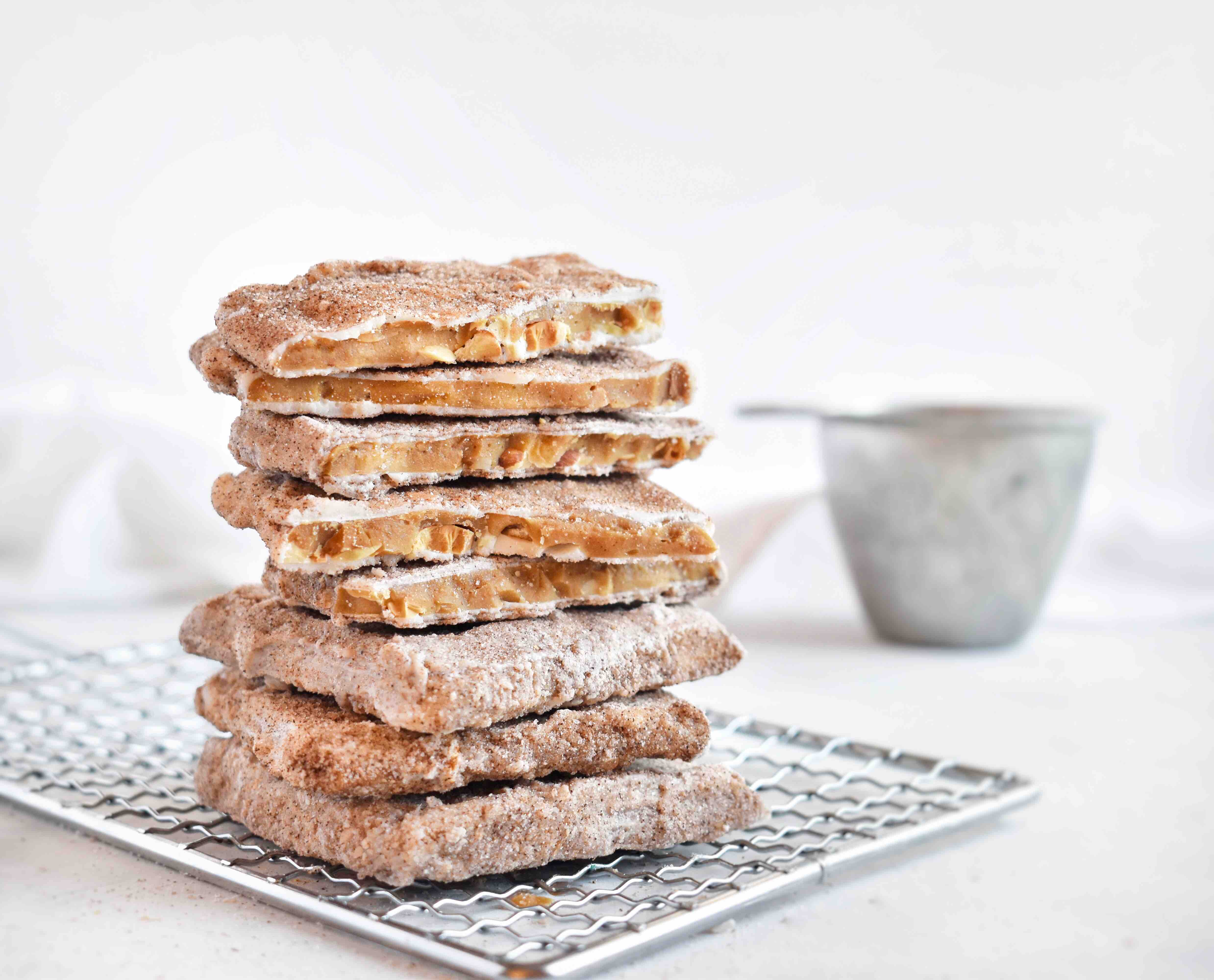 stack of churro toffee