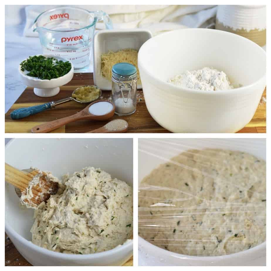 the ingredients and process for herb artisan bread