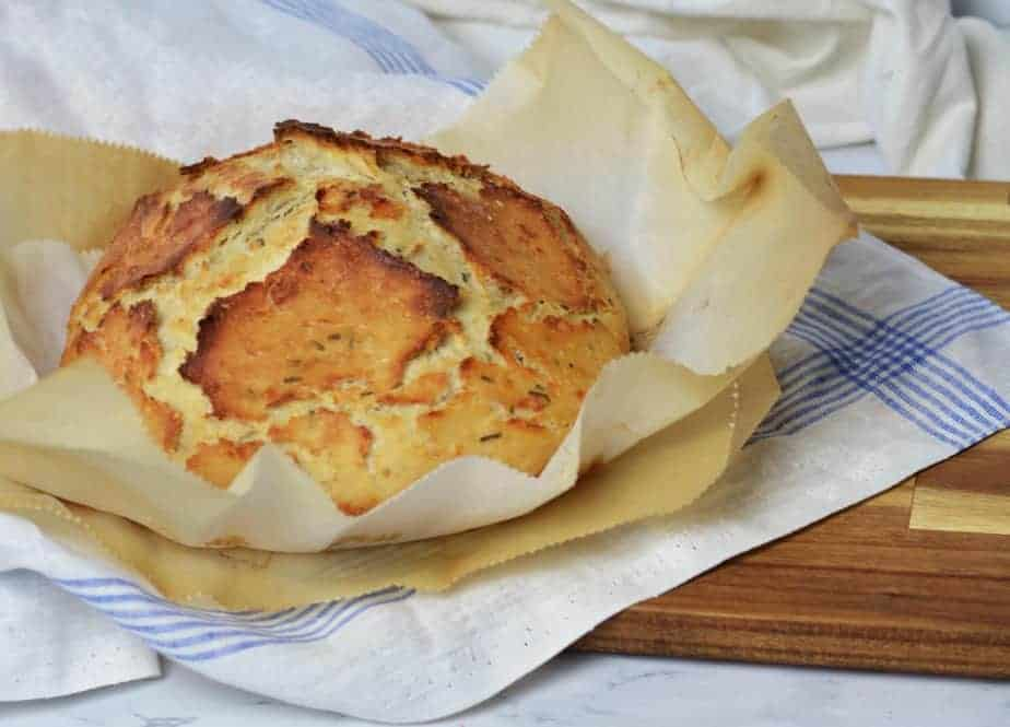 round of baked herb artisan bread