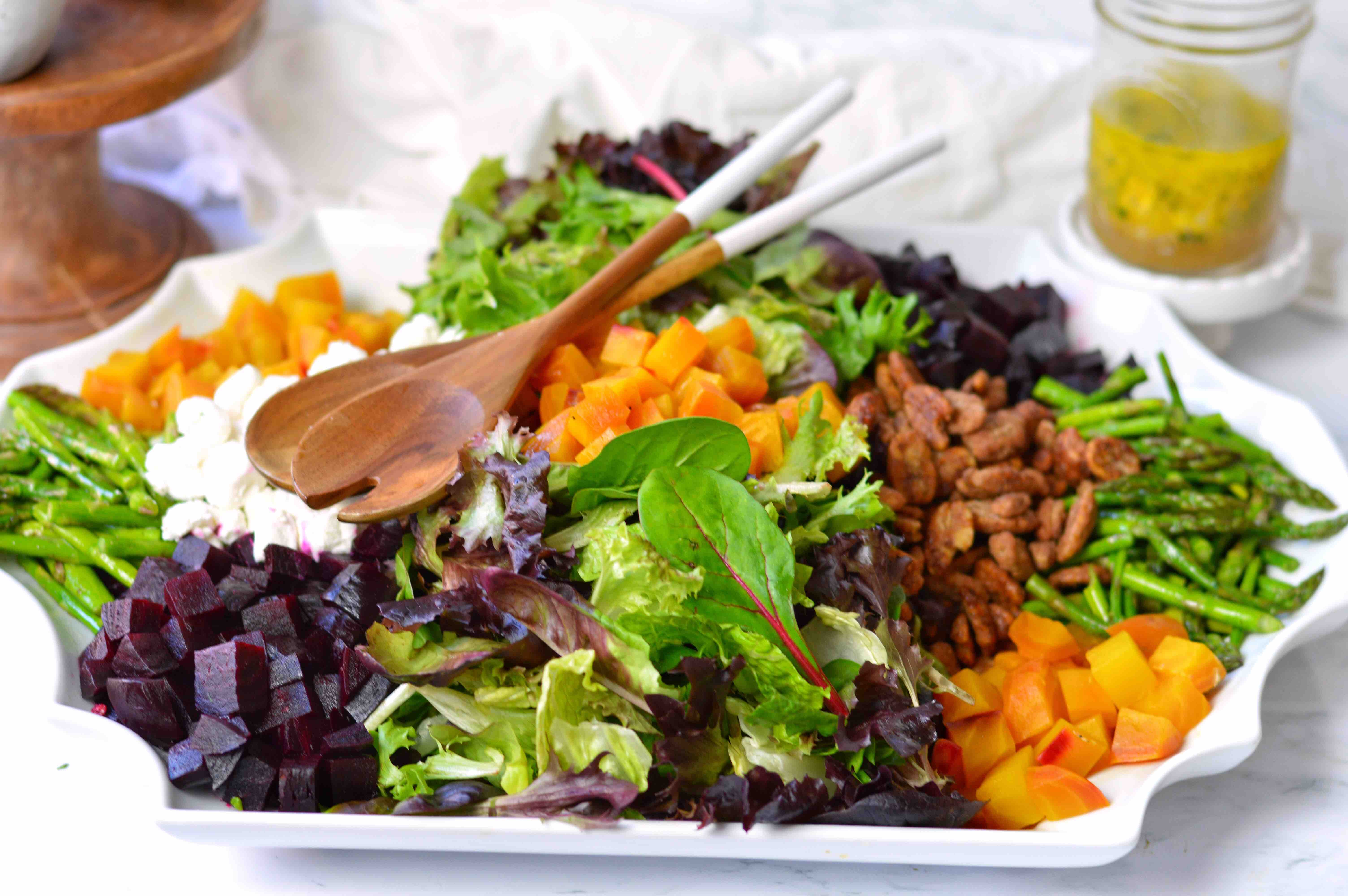 French Country Salad on Large Platter. title