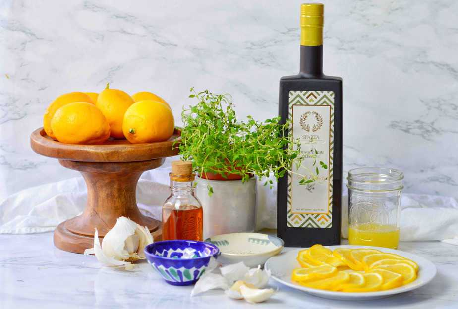 ingredients for Lemon Thyme Vinaigrette