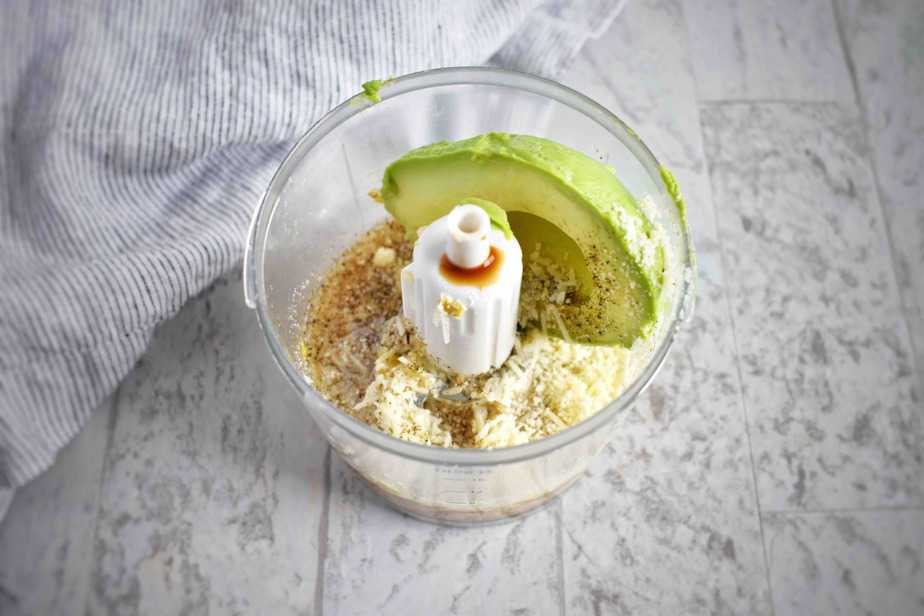 dressing ingredients in a small food processor