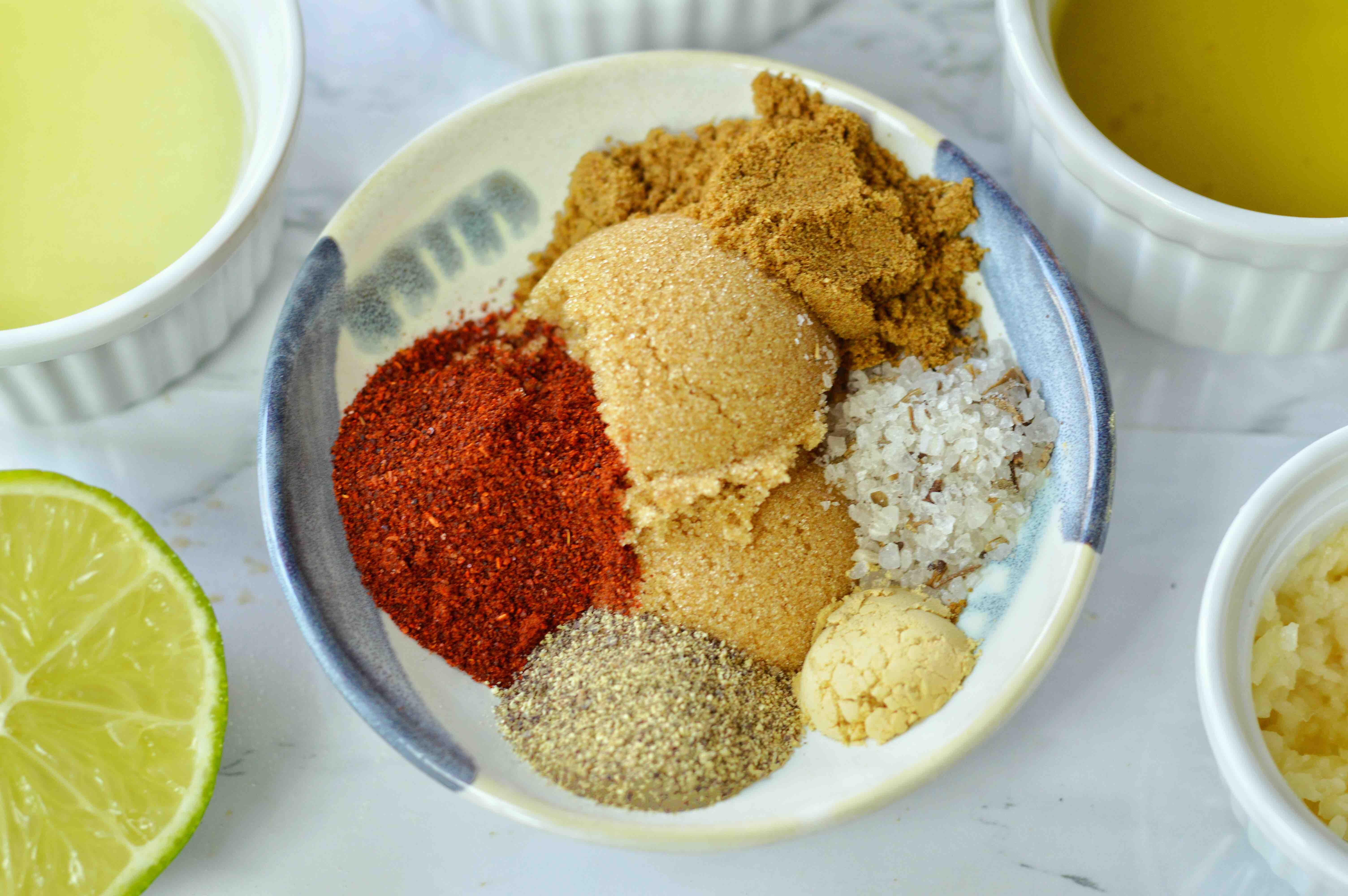 spices for marinade for sheet pan chicken fajitas