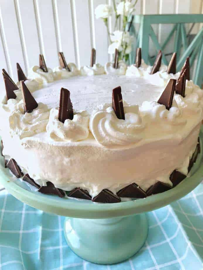 whip topping frosts the ice cream cake