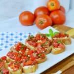 Bruschetta with Tomato and Creamy Feta