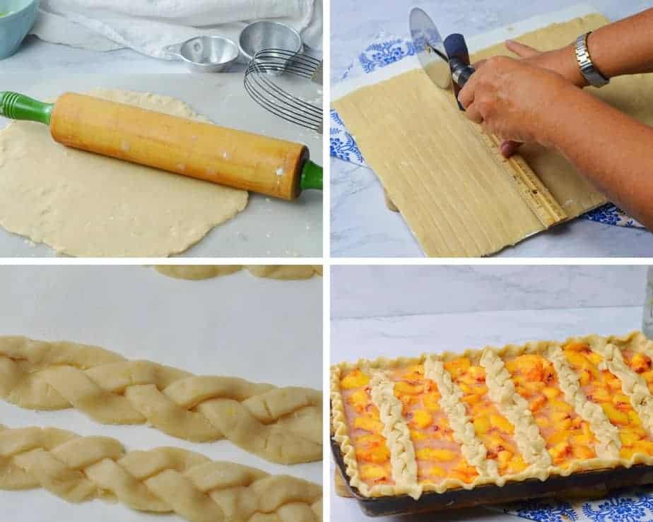 Process Pic braided pastry crust for Peach Pie