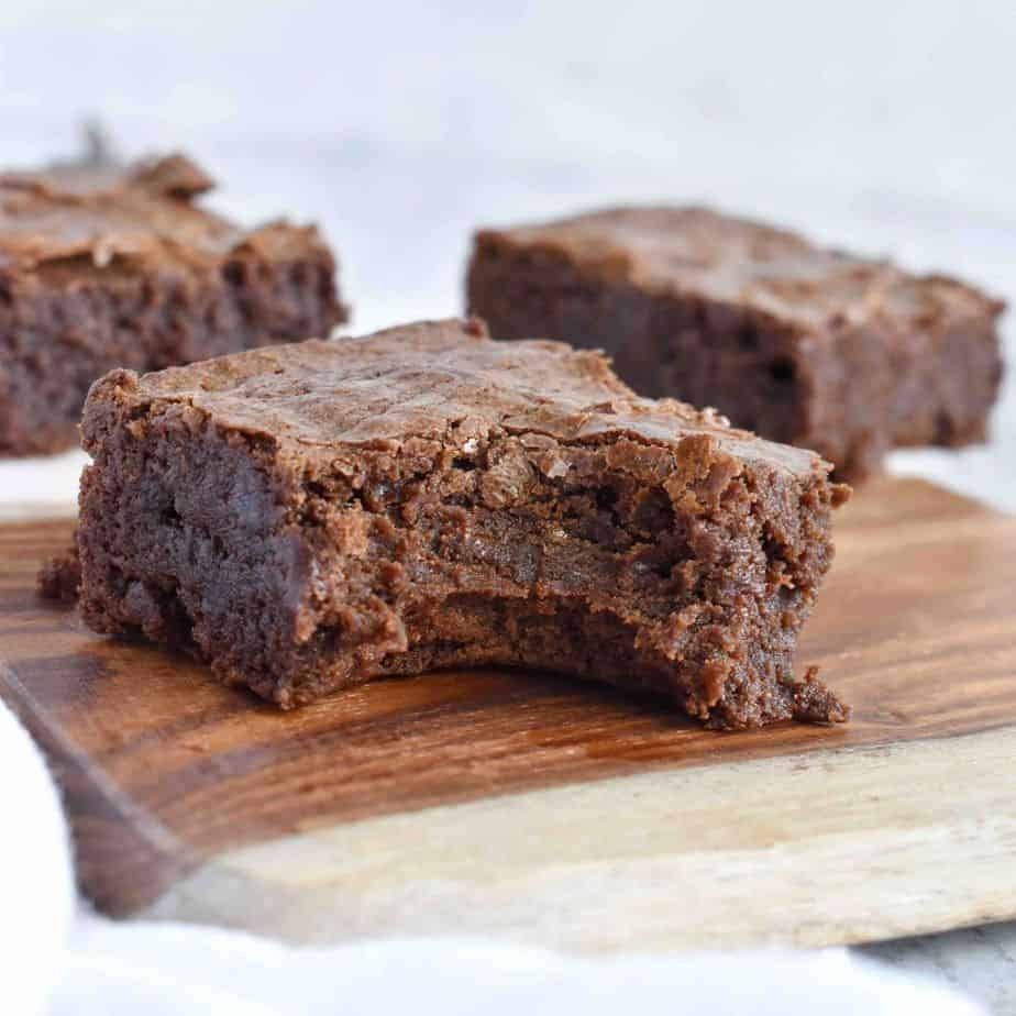 brownie with bite out of it