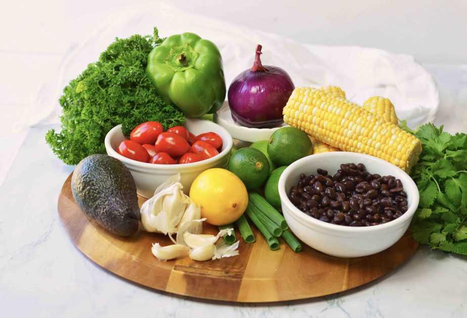 assortment of fresh summer vegetables